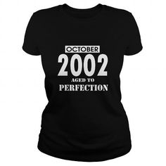 Awesome Tee 10 October 2002 October Born Birthday Aged to Perfection T Shirt Hoodie Shirt VNeck Shirt Sweat Shirt Youth Tee for womens and Men T shirts