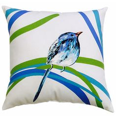allen + roth Multicolor UV-Protected Square Outdoor Decorative Throw Pillow