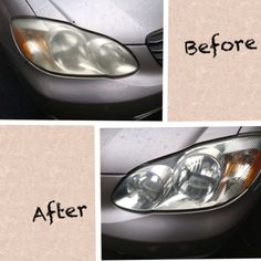 Cleaning headlight with toothpaste.going to try Headlight Cleaner, How To Clean Headlights, Happy House, Clean Machine, Cleansers, Clean House, Dog Bowls, Cleaning Hacks, Helpful Hints