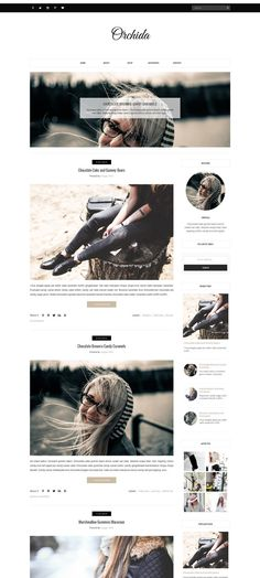 Blogger Template - Orchida by Vefio Themes on @creativemarket