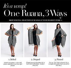 Charming Charlie - How to wear a Ruana