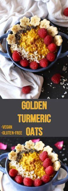 Glowing Golden Turmeric Oatmeal - Zen and Zaatar - turmeric oatmeal - . Fresh Tumeric Recipes, Rutabaga Recipes, Watercress Recipes, Saffron Recipes, Qinuoa Recipes, Gourmet Recipes, Whole Food Recipes, Vegan Recipes, Recipes Dinner