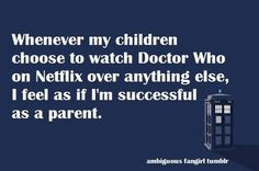 That goes for the Sarah Jane Chronicles as well.
