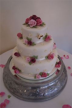3 Tier Flowers, Butterflies & Blossoms from Humble Cake