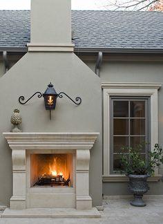 and Tricks for Choosing Exterior Trim Colors {Color Palette Monday}. Tips and Tricks for Choosing Exterior Trim Colors {Color Palette Monday}.SW ChestnutTips and Tricks for Choosing Exterior Trim Colors {Color Palette Monday}. Outdoor Fireplace, Paint Colors For Home, Exterior Trim, House Exterior, Stucco Homes, House Paint Exterior, Window Trim Exterior, Country Fireplace, Exterior Paint Colors For House