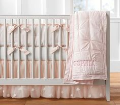 Shop Pottery Barn Kids' Monique Lhuillier Sophia Baby Girl Nursery for girls nursery ideas and more. Discover baby girl nursery themes and styles at Pottery Barn Kids. Baby Girl Nursery Bedding, Baby Bedding Sets, Crib Bedding, Baby Room, King Comforter, Comforter Sets, Girl Room, Girls Bedroom, Monique Lhuillier