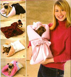 Small Dog Carrier Bed And Hats Uncut Pattern Simplicity 2744 For Dogs 1 To 8 Lbs