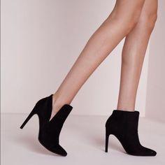 Asymmetric Ankle Boots