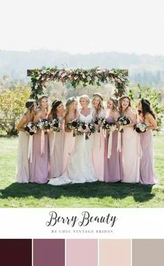 Loving the whole look of different colored neutrals for the wedding party