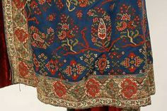 Side detail of 1860's European evening cape of cashmere wool.