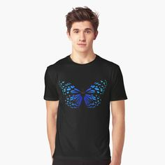 """ Butterfly"" T-shirt by Tshirt Colors, Wardrobe Staples, Female Models, Heather Grey, Classic T Shirts, Butterfly, Mens Tops, Cotton, How To Wear"