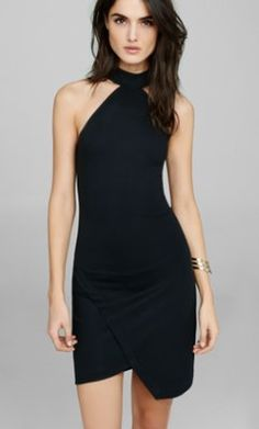 high neck halter sheath dress from EXPRESS