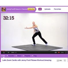Jenny Ford Fitness - Free Videos on YouTube... If you love group fitness classes like Zumba and step aerobics but can't afford the gym fees, Jenny Ford posts free, full-length cardio videos filmed and delivered with a professional flare.