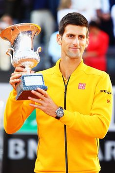 Congratulations Novak Djokovic - winner of the 2015 BNL Italian Open (for the fourth time in his career).