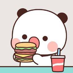 Cute Panda Cartoon, Cute Couple Cartoon, Cute Cartoon Pictures, Cute Love Pictures, Cute Love Cartoons, Bear Cartoon, Cute Bear Drawings, Cute Animal Drawings Kawaii, Chibi Cat