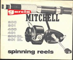 The Fishing Musician: GARCIA MITCHELL 300 SPINNING REELS
