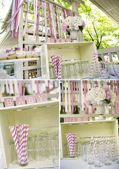 lavender & pink baby shower