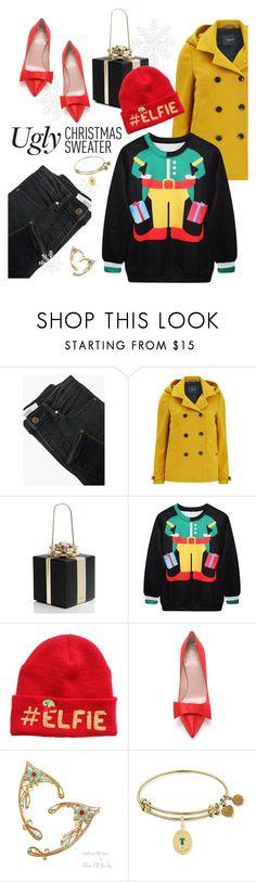 """ugly christmas sweater"" by maria-maldonado ❤ liked on Polyvore featuring MANGO, Maison Scotch, Kate Spade and uglychristmassweater"