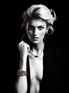 anja rubik apart diamond jewelry1 Anja Rubik Shines in the Apart Diamond Spring 2014 Campaign