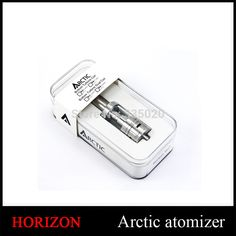 Newest Horizon Arctic Clearomizer Sub ohm 0.2 0.5 1.2ohm Replacement BTC BTDC Coils Organnic Cotton Arctic Atomizer #Affiliate