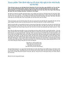 Dược phẩm tâm bình tiếp tục tổ chức hội nghị tri ân nhà thuốc tại hà nội by Dược Phẩm Tâm Bình  http://tambinh.vn/duoc-pham-tam-binh-tiep-tuc-to-chuc-hoi-nghi-tri-an-nha-thuoc-tai-ha-noi_905.html