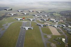Harrier farewell, formation passes over RAF Wittering on 14th December 2010