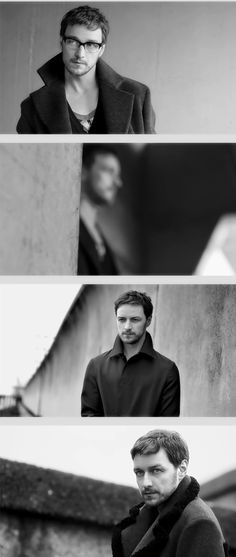 James McAvoy with glasses. A whole different look.