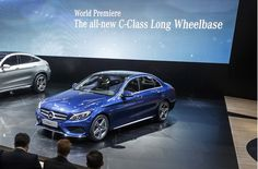 Release 2015 Mercedes C-Class LWB Review Front Side View Model