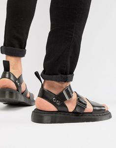 Browse online for the newest Dr Martens Gryphon strap sandals in black styles. Shop easier with ASOS' multiple payments and return options (Ts&Cs apply). Dr. Martens, Strap Sandals, Flip Flop Sandals, Flip Flops, Asos, Sneaker Boots, Moda Online, Huaraches, Nike Air