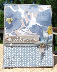 English Garden thankful card by Jaydee