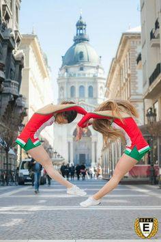 Az amerikai cheerleader VB-re készülő BEAC-os Balogh Patrícia-Szabó Hanna páros ;) Fotó: Simó Szabolcs Photography
