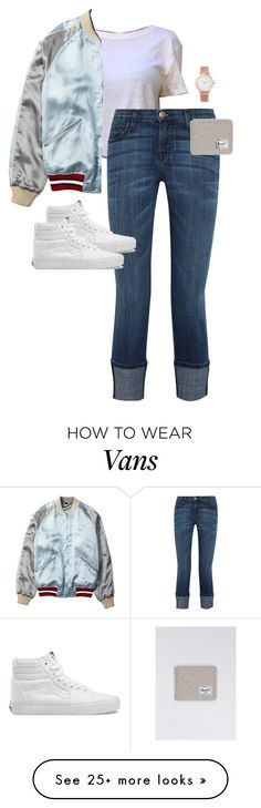 """Untitled #12380"" by alexsrogers on Polyvore featuring Current/Elliott, Gucci, Vans, Larsson & Jennings and Herschel"