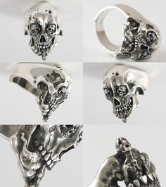Rakuten: Scull ring Senju 《 Rg-1Self-Discipline 》 (/ silver accessories / シルバーアクセ / silver / silver 925/Silver925/ silver / 1,000 moves / Kannon-with-One-Thousand-Arms / ring / ring / men / unisex / scull / skeleton / skeleton / vegetables with dressing / tongue / vero // Senju)- Shopping Japanese products from Japan