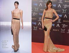 ralph russo | Nieves Alvarez In Ralph & Russo Couture – Goya Cinema Awards 2014