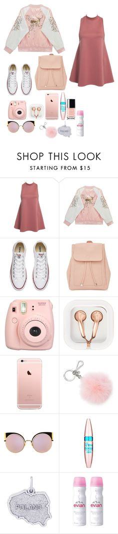 """""""Olimpia for Poland🌸"""" by jesse-je ❤ liked on Polyvore featuring NLY Trend, Converse, New Look, Fujifilm, claire's, Michael Kors, Fendi, Maybelline, Rembrandt Charms and Evian"""