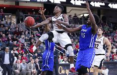 The Omaha Men's Basketball game on Feb. 20, 2016 at Baxter Arena