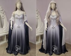 Silver Shadow Elven Gown (sleeve view) by Firefly-Path.deviantart.com on @DeviantArt