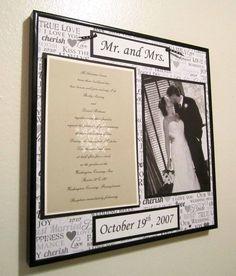 Wedding Photo  Invitation Frame 1 by CustomizedByNancy on Etsy, $28.00
