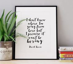 Labyrinth Quote Printable Pink and Black Digital by TypoWorld