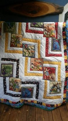 Wizard of Oz quilt I made for my daughter. I used the zig zag zoom pattern from the pattern spot.