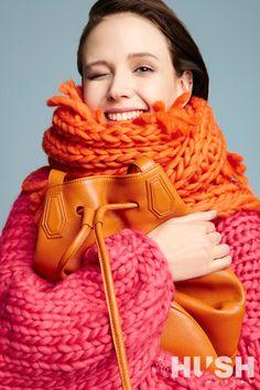 #hushwarsaw #hushonline #orangescarf #berenikaczarnota #orange #chunkyscarf #handmadeknit #knitted #jumper #oversizedknit