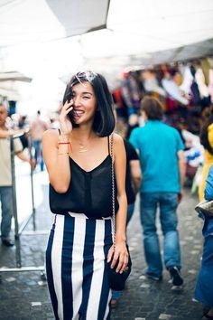 Cómo combinar una falda blanca y negra en tu look de verano : MartaBarcelonaStyle's Blog