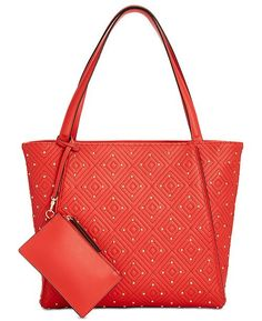 a88cce105d31 INC International Concepts I.N.C. Quiin Quilted Studded Tote, Created for  Macy's & Reviews - Handbags & Accessories - Macy's