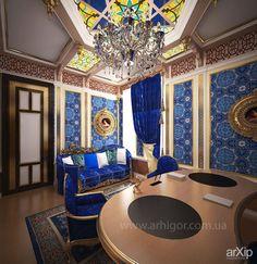 Кабинет: интерьер, квартира, дом, восточный, марокканский стиль, кабинет личный, кабинет руководителя, 20 - 30 м2 #interiordesign #apartment #house #moroccan #personalcabinet #officeofceo #20_30m2