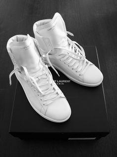 (Yves) Saint Laurent High Tops: Ice White