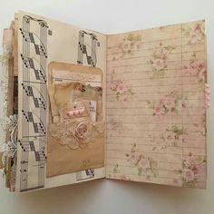 Resultado de imagem para ideas for junk journal Junk Journal, Journal Paper, Art Journal Pages, Journal Sample, Handmade Journals, Handmade Books, Vintage Journals, Scrapbooks, Shabby Chic Journal