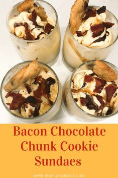 I'm also sharing a super easy Bacon Chocolate Chunk Cookie Sundae that you will love! Chocolate Chunk Cookie Recipe, Bacon Chocolate, Easy Family Meals, Frugal Meals, Easy Meals, Best Comfort Food, Comfort Foods, Good Food, Yummy Food
