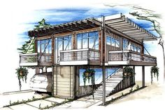 Container home kits Container Architecture, Pavilion Architecture, Sustainable Architecture, Contemporary Architecture, Architecture Design, Architecture Drawing Sketchbooks, Architecture Concept Drawings, Container Home Designs, House Design Drawing