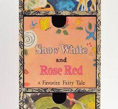 Vintage Treasure Drawers - Snow White and Rose Red Golden Book post illa Marginalia - Vintage Chidren's Book Art New Zealand