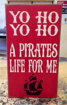 11 X 20 Pirate Sign by SleepysCustomSigns on Etsy